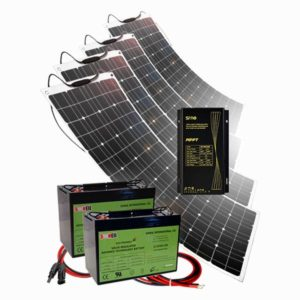400W Flexible Solar Panel Kits for RVs, Marine, Cabins & Cottages