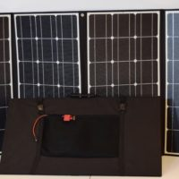 RV Kit: 420W Folding ETFE Solar Panels w 30A MPPT Charge Controller + Accessories