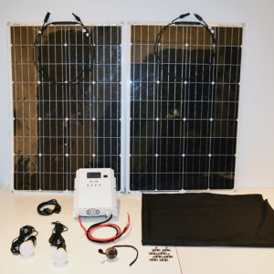 200W Flexible Solar Panel Kits for RVs, Marine, Cabins & Cottages