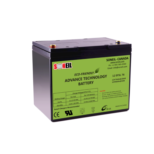 76Ah 12V SiO2 Battery
