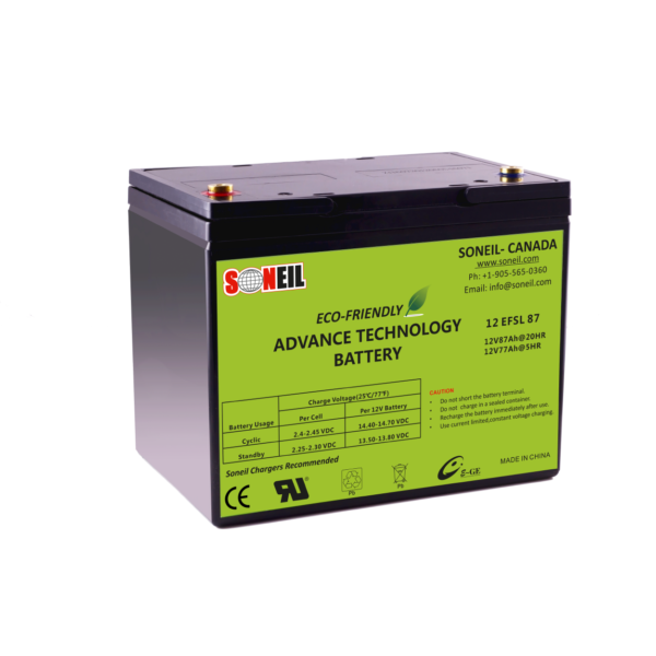 12V 87Ah EFSL SiO2 Battery