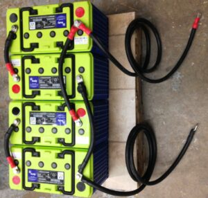 bank of 4V Firefly batteries by Azimuth Solar
