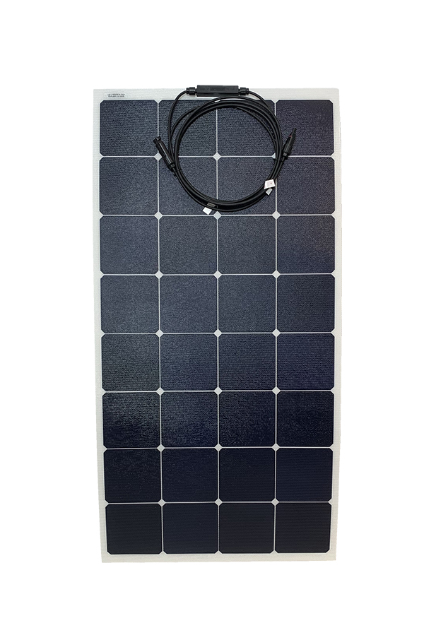 100W solar panel no grommet front view